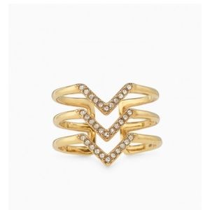 Pave Chevron Ring in Gold by Stella and Dot
